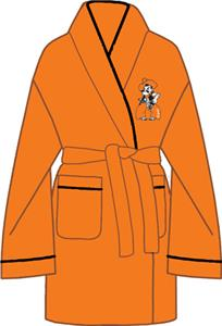 Oklahoma State Solid Womens Fleece Bath Robe