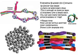 Soccer Ball Bead Friendship Bracelet Kits