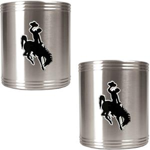 NCAA Wyoming Cowboys Stainless Steel Can Holders