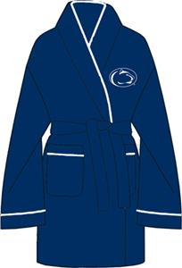Penn State Solid Womens Fleece Bath Robe