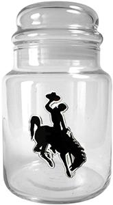 NCAA Wyoming Cowboys Glass Candy Jar