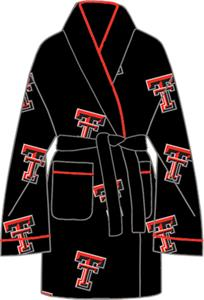 Texas Tech Womens Fleece Bath Robe
