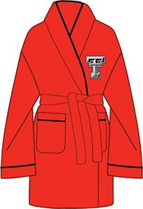 Texas Tech Solid Womens Fleece Bath Robe