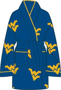West Virginia Womens Fleece Bath Robe