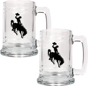 NCAA Wyoming Cowboys 15oz Glass Tankard