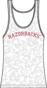 Arkansas Razorbacks Womens Swirl Tank Top