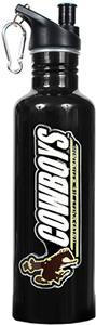 NCAA Wyoming Cowboys Black Water Bottle
