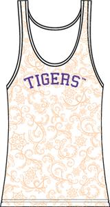 Clemson Tigers Womens Swirl Tank Top