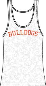 Georgia Bulldogs Womens Swirl Tank Top
