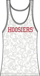 Indiana Hoosiers Womens Swirl Tank Top