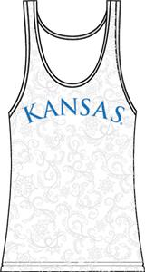 Kansas Jayhawks Womens Swirl Tank Top