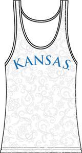 Kansas Jayhawks Womens Swirl Tank Top