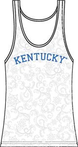 Kentucky Wildcats Womens Swirl Tank Top