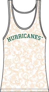 Miami Hurricanes Womens Swirl Tank Top