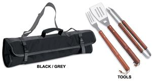 Picnic Time 3-Piece BBQ Tool Set with Tote