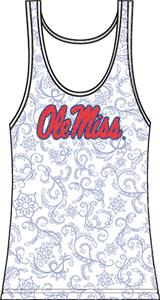 Mississippi Ole Miss Womens Swirl Tank Top