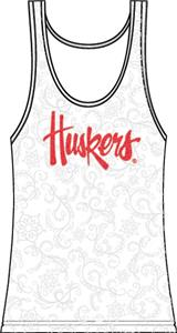 Nebraska Cornhuskers Womens Swirl Tank Top