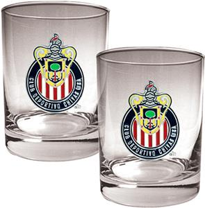 MLS Club Deportivo Chivas USA Rocks Glass Set of 2
