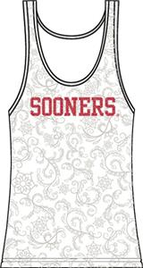 Oklahoma Sooners Womens Swirl Tank Top