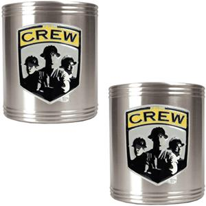 MLS Columbus Crew Stainless Steel Can Holders