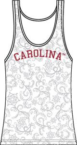 South Carolina Womens Swirl Tank Top