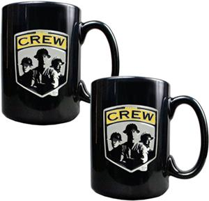 MLS Columbus Crew 15oz. Black Ceramic Mug Set of 2