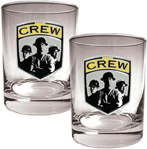 MLS Columbus Crew 14oz. Rocks Glass Set of 2