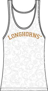 Texas Longhorns Womens Swirl Tank Top