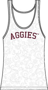 Texas A&M Aggies Womens Swirl Tank Top