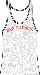 Texas Tech Womens Swirl Tank Top