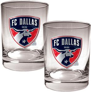MLS FC Dallas 14oz. Rocks Glass Set of 2
