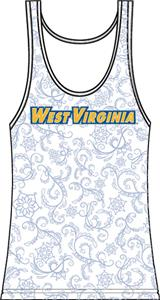 West Virginia Womens Swirl Tank Top
