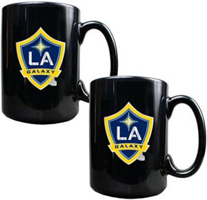MLS Los Angeles Galaxy Black Ceramic Mug Set of 2