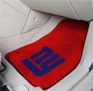 Fan Mats New York Giants Carpet Car Mats (set)