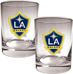 MLS Los Angeles Galaxy 14oz. Rocks Glass Set of 2