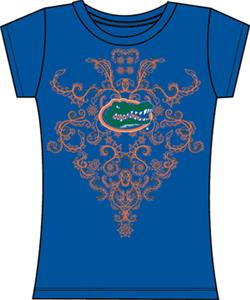 Florida Gators Womens Metallic Nailhead Tee