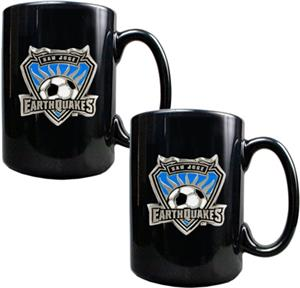 MLS San Jose Earthquakes 15oz Ceramic Mug Set of 2