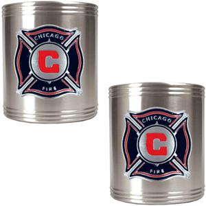 MLS Chicago Fire Stainless Steel Can Holders
