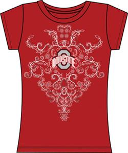 Ohio State Womens Metallic Nailhead Tee