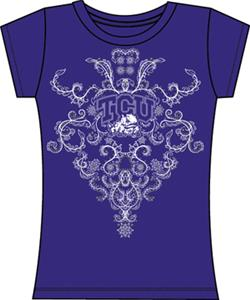 Texas Christian TCU Womens Metallic Nailhead Tee