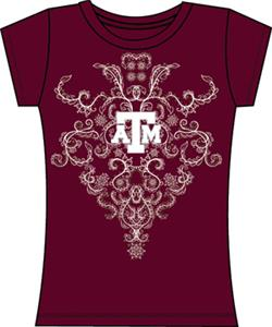 Texas A&M Aggies Womens Metallic Nailhead Tee