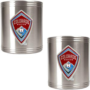 MLS Colorado Rapids Stainless Steel Can Holders