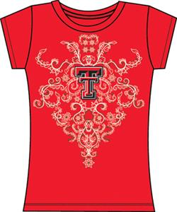 Texas Tech Womens Metallic Nailhead Tee