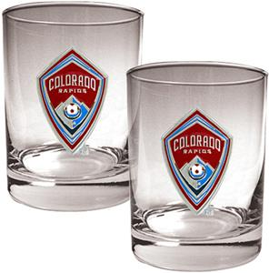 MLS Colorado Rapids 14oz. Rocks Glass Set of 2