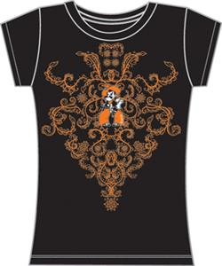 Oklahoma State Womens Metallic Nailhead Tee