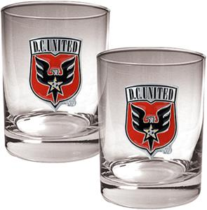 MLS D.C. United 14oz. Rocks Glass Set of 2