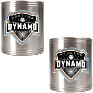 MLS Houston Dynamo Stainless Steel Can Holders