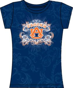 Auburn Tigers Womens Metallic Foil Image Tee