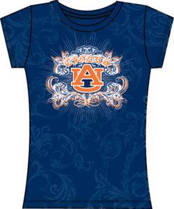 Auburn Tigers Womens Metallic Foil Image Tee