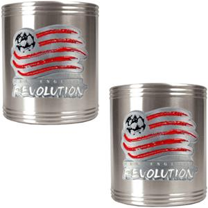 MLS New England Revolution Stainless Can Holders